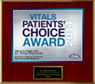 Vitals Patients Choice Award 2014